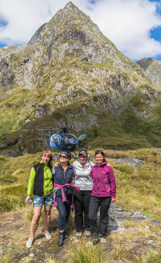 Scenic helicopter flight, Milford, Fiordland, New Zealand